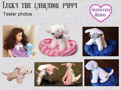 "Lucky Labrador Puppy 18"" Doll Pet Pattern"