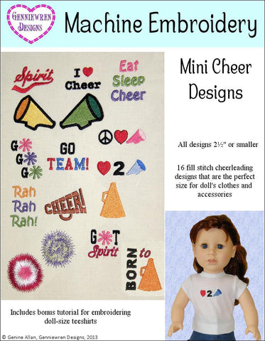 Mini Cheerleading Design Set Machine Embroidery Designs