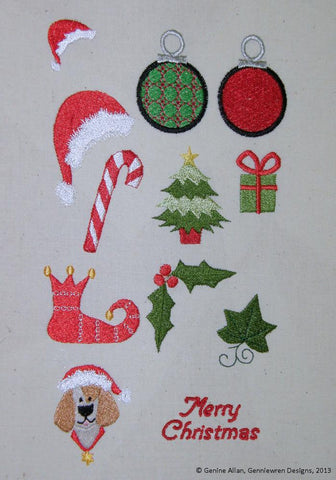 Mini Christmas Design Set 1 Machine Embroidery Designs