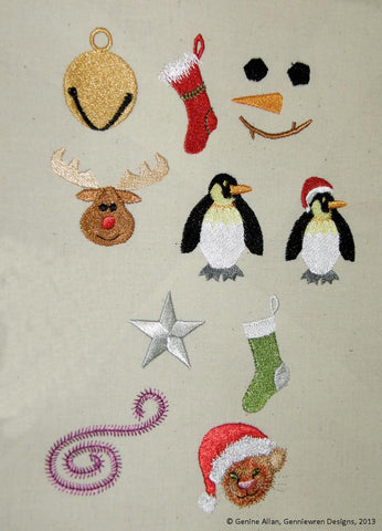Mini Christmas Design Set 2 Machine Embroidery Designs