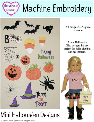 Mini Hallowe'en Design Set Machine Embroidery Designs