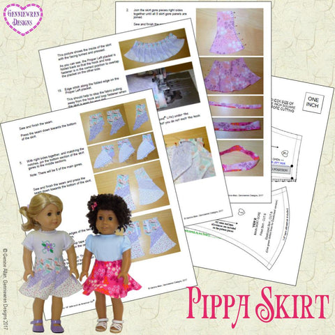 "Pippa Skirt 18"" Doll Clothes"