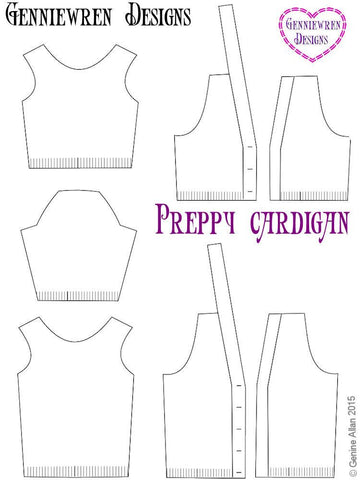 Preppy Cardigan Knitting Pattern