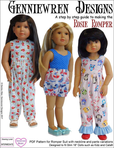 Rosie Romper Pattern for Kidz N Cats Dolls