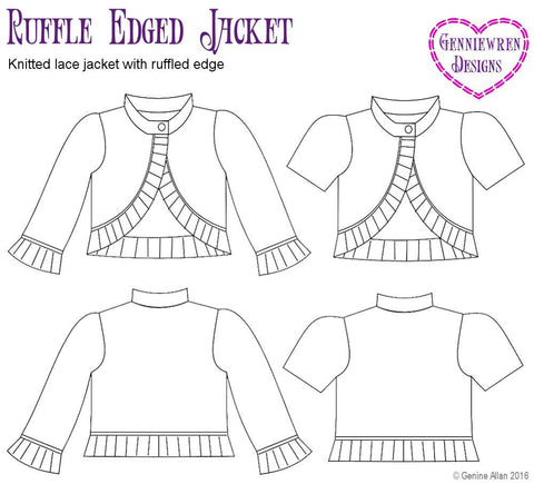 Ruffle Edged Jacket Knitting Pattern