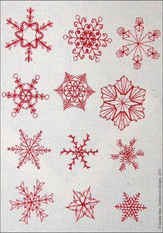 Mini Snowflakes Design Set 1 Machine Embroidery Designs