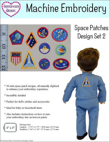 Mini Space Patches Set 2 Machine Embroidery Designs