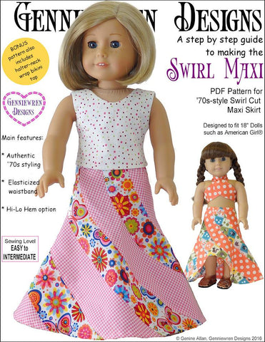 "Swirl Maxi 18"" Doll Clothes Pattern"