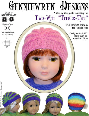 "Two-Way ""Titfer-Tat"" Ridged Hat Knitting Pattern"