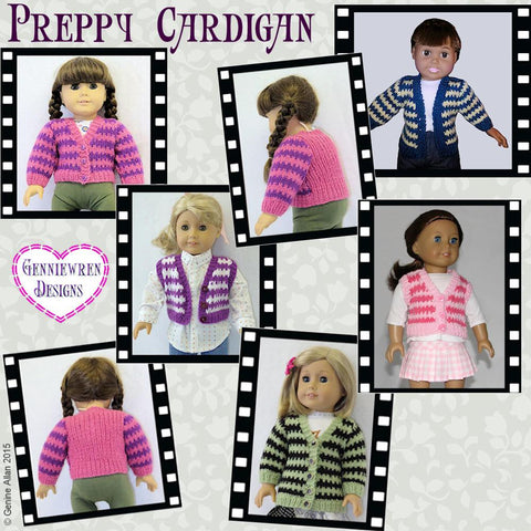 Genniewren Knitting Preppy Cardigan Knitting Pattern Pixie Faire