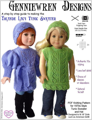 Yolande Lacy Tunic & Hat Knitting Pattern
