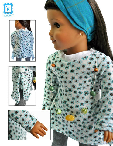 "Go With The Flow Tunic 18"" Doll Clothes"