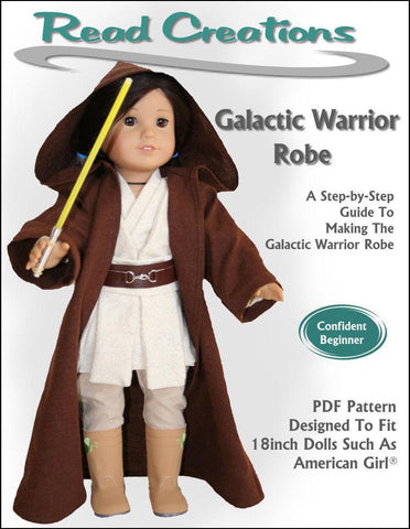 "Read Creations 18 Inch Modern Galactic Warrior Robe 18"" Doll Clothes Pixie Faire"
