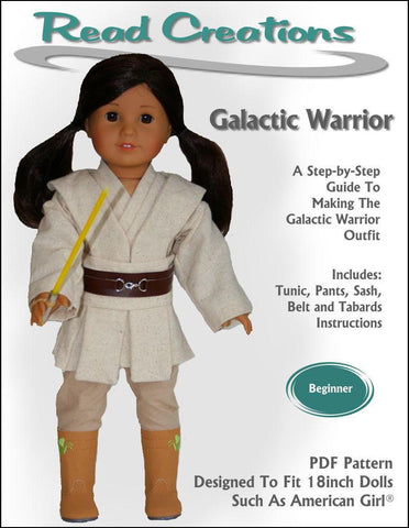 "Read Creations 18 Inch Modern Galactic Warrior 18"" Doll Clothes Pattern Pixie Faire"
