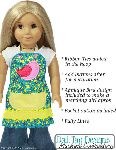 Doll Tag Clothing Machine Embroidery Design Garden Tweet Apron Machine Embroidery Designs Pixie Faire