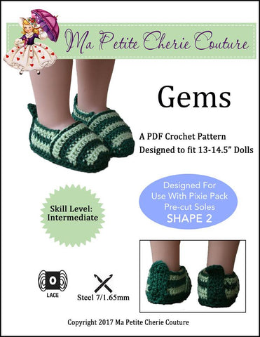 "Gems 13-14.5"" Doll Crochet Pattern"