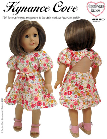 "Kynance Cove Dress 18"" Doll Clothes"