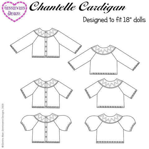 Chantelle Cardigan for 18 inch dolls