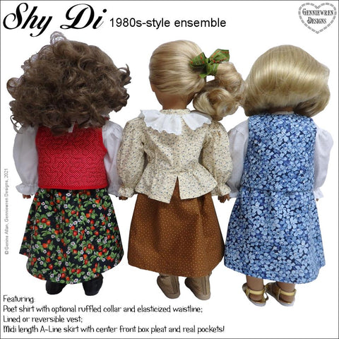 "Shy Di 1980s Style Ensemble 18"" Doll Clothes Pattern"