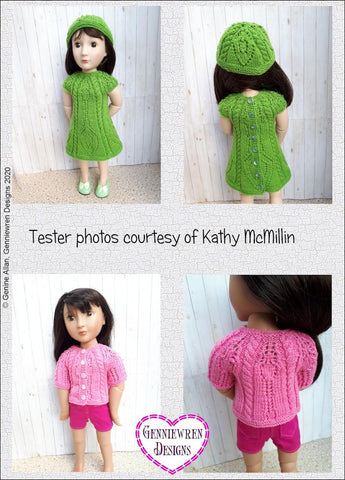 "Cables and Lace Knitting Pattern for 16"" dolls such as A Girl for All Time"
