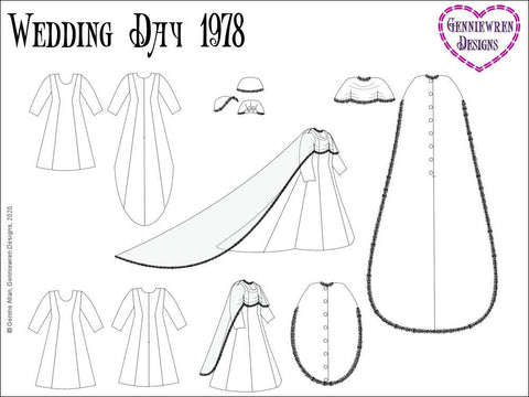 Wedding Day 1978 Pattern for AGAT Dolls