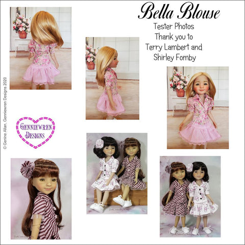 Bella Blouse Doll Clothes Pattern for Ruby Red Fashion Friends