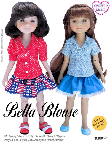 Genniewren Ruby Red Fashion Friends Bella Blouse Doll Clothes Pattern for Ruby Red Fashion Friends Pixie Faire