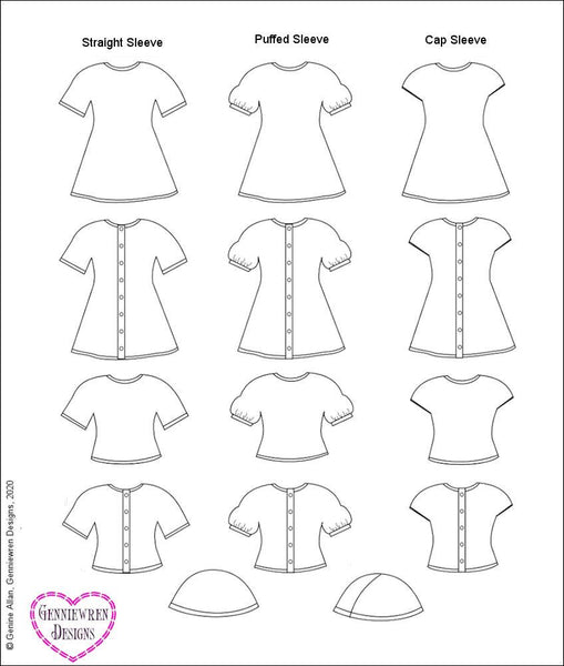 Genniewren Designs Cables and Lace Doll Clothes Knitting