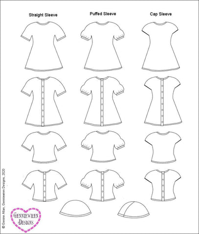 "Cables and Lace Dress 18"" Doll Knitting Pattern"