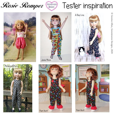 Rosie Romper Doll Clothes Pattern for Ruby Red Fashion Friends™