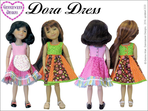 "Dora Dress 14-15"" Doll Clothes Pattern"
