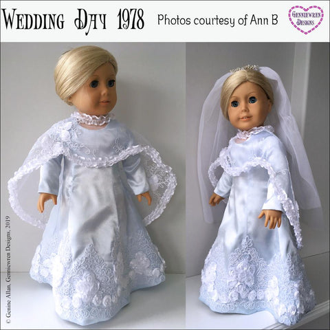 "Wedding Day 1978 18"" Doll Clothes Pattern"