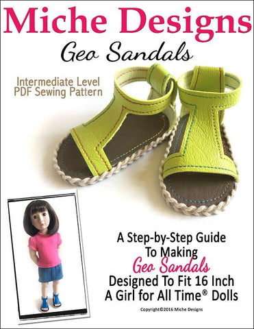 Geo Sandals Pattern for AGAT Dolls