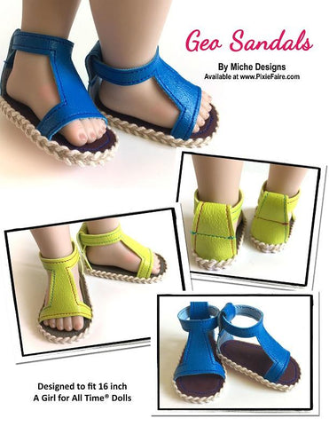 Geo Sandals for AGAT Dolls