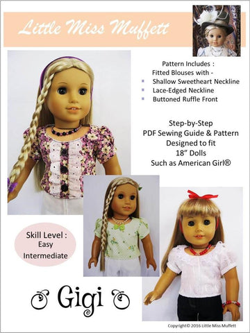"Gigi 18"" Doll Clothes Pattern"