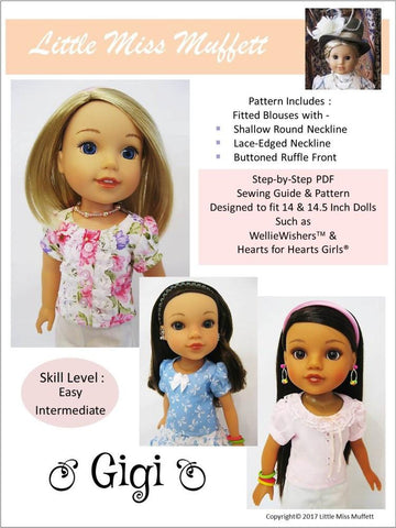 "Gigi 14-14.5"" Doll Clothes Pattern"