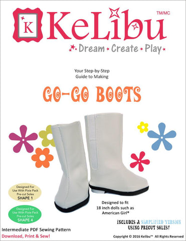 "Go-Go Boots 18"" Doll Shoes"