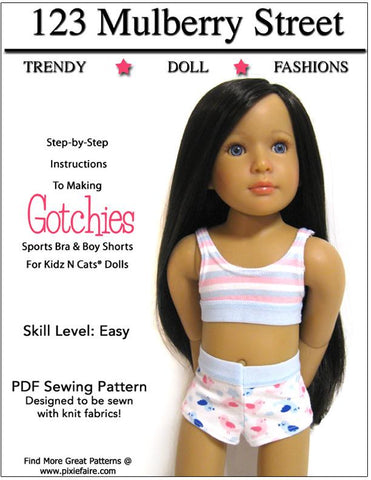 Gotchies Pattern for Kidz N Cats Dolls