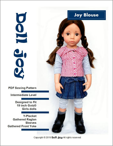 "Joy Blouse Pattern for 19"" Gotz Dolls"