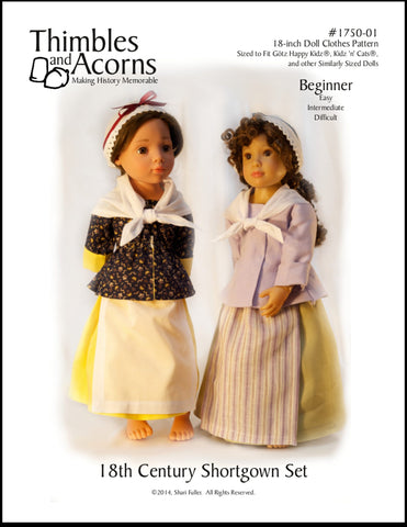 18th Century Shortgown Set Pattern for Gotz and Kidz n Cats Dolls