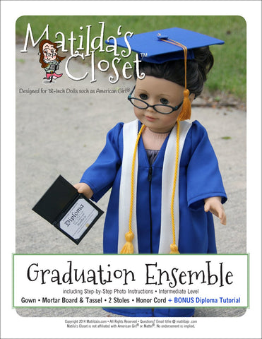 "Matilda's Closet 18 Inch Modern Graduation Ensemble 18"" Doll Clothes Pixie Faire"