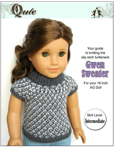 Gwen Slip Stitch Turtleneck With Cap Sleeves Knitting Pattern