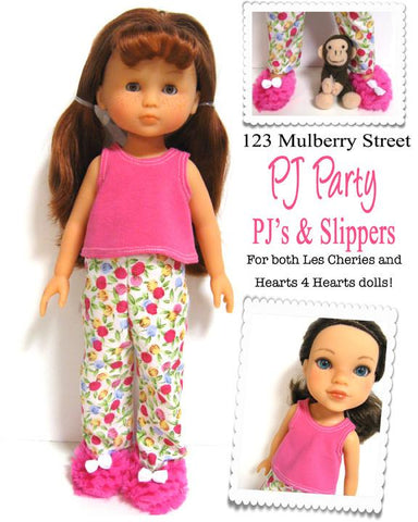 PJ Party Pattern for Les Cheries and Hearts for Hearts Girls Dolls