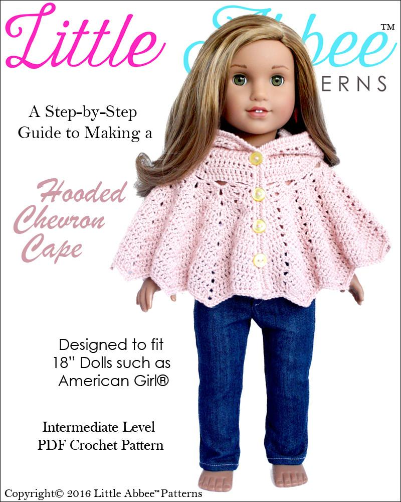 Little Abbee Hooded Chevron Cape Doll Clothes Crochet Pattern 18 ...