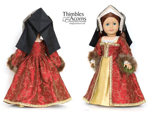 "Renaissance Faire Hampton Court Gown 18"" Doll Clothes"