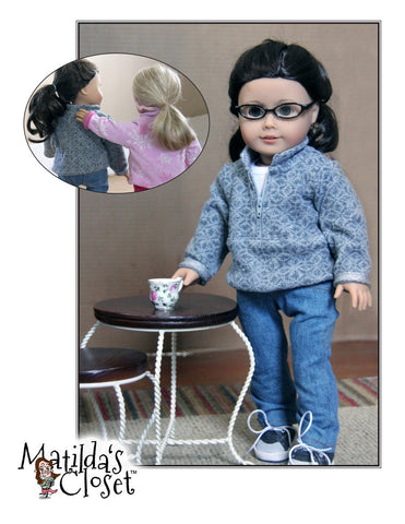 "Half-Zip Pullover 18"" Doll Clothes"
