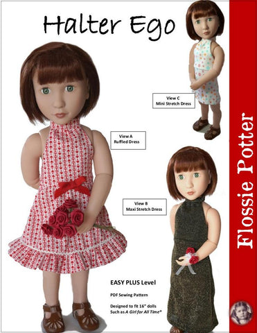 Flossie Potter A Girl For All Time Halter Ego Dress For A Girl For All Time Dolls Pixie Faire