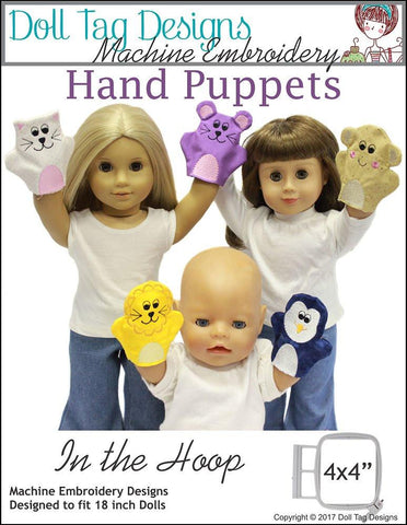 Hand Puppets for Dolls Machine Embroidery Designs