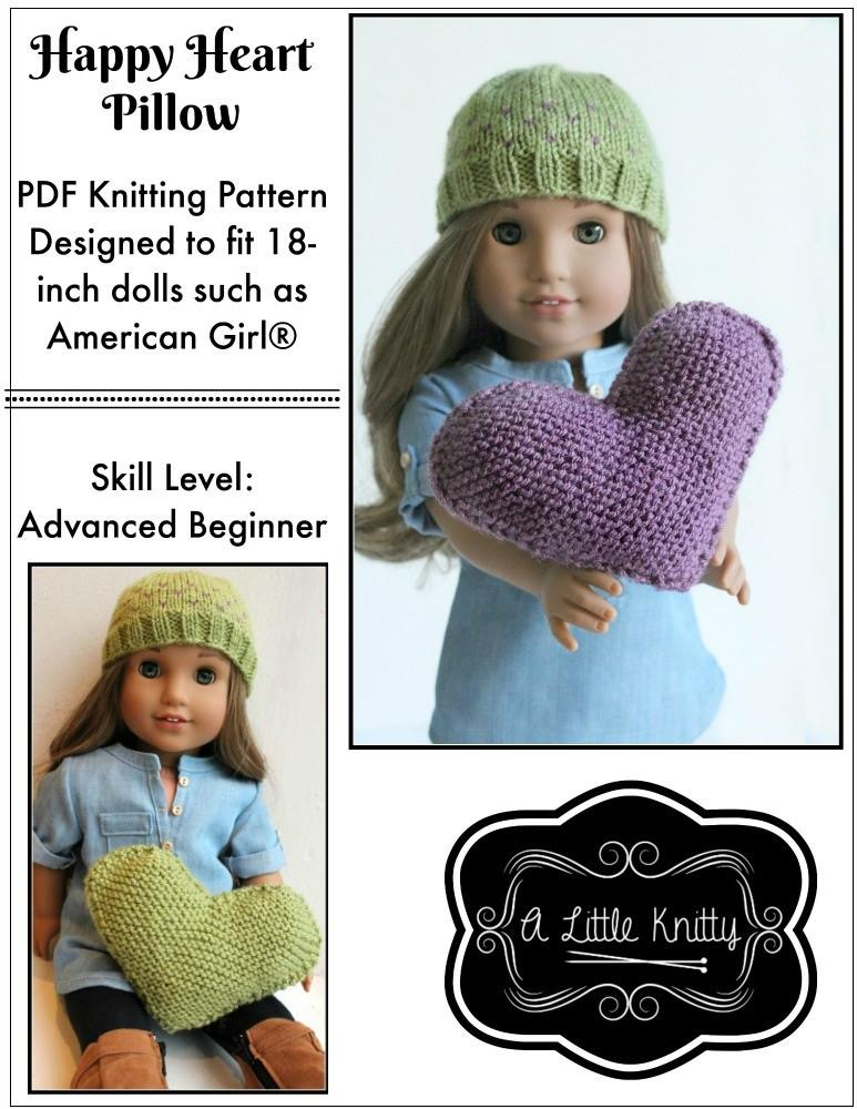 A Little Knitty Free Happy Heart Pillow Doll Clothes Knitting