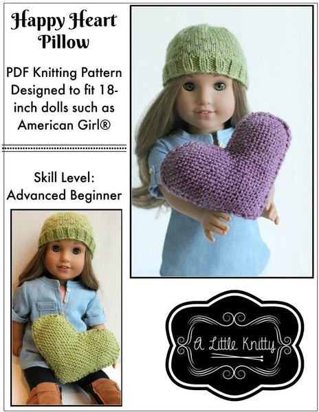 A Little Knitty FREE Happy Heart Pillow Doll Clothes ...